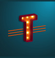 retro style letter t vector image vector image