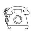 rotary phone icon image vector image vector image