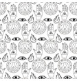 seamless pattern all seeing eye vector image vector image