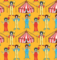 Sketch circus tent and clawn vector image