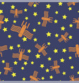 spaceship seamless pattern spacecraft background vector image vector image