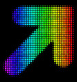spectral colored pixel arrow up right icon vector image vector image