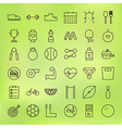 Sport and Healthy Lifestyle Line Big Icons Set vector image