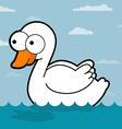 Swan Cartoon vector image vector image