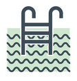 swimming pool and ladder isolated icon hotel vector image vector image