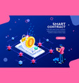 template for smart contract vector image vector image