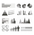 variety infographics elements set vector image vector image