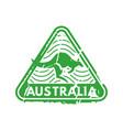 vintage postage australia mail stamp vector image vector image