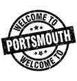 welcome to portsmouth black stamp vector image vector image