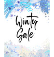 winter sale brush lettering vector image vector image