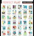 real estate complex flat icon concept vector image