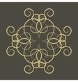 A circular ornament vector image vector image