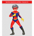 A red and blue superhero vector image vector image