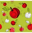 apple pattern vector image vector image