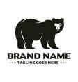 bear character logo vector image vector image