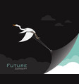 birdsegret or heron changing reality future vector image