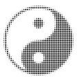 black dot yin yang icon vector image