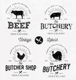 Butcher Shop Design Elements Labels and Badges vector image vector image