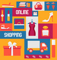 buying clothes in online shop vector image vector image