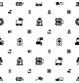 card icons pattern seamless included editable vector image vector image