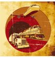 cargo transportation grunge vector image vector image