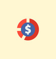 cash icon flat element of vector image vector image