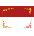 chinese corner ornament in linear style vector image vector image