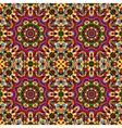 circular geometric seamless kaleidoscope pattern vector image vector image