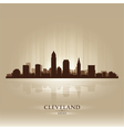 Cleveland Ohio skyline city silhouette vector image vector image