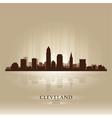 Cleveland Ohio skyline city silhouette vector image