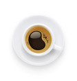 coffee cup and plate vector image vector image