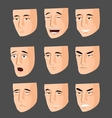 Collection of cartoon emotion faces vector image vector image