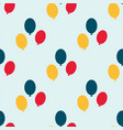 color glossy balloons seamless pattern vector image