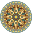 color mandala with a flower in the middle vector image vector image