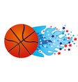 colorful olympic flame with stars and basketball vector image vector image