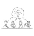 comic cartoon business team meeting and vector image