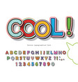 comic font design funny pop art letters and vector image