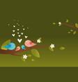 cute birds family vector image vector image