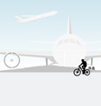 Cycling airport vector image vector image
