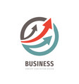 direction arrows - business logo design strategy vector image