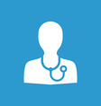 doctor icon white on the blue background vector image