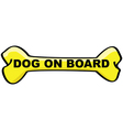 dog on board cartoon sign vector image
