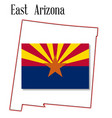 east arizona map and flag vector image