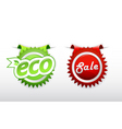 ecology badge vector image vector image