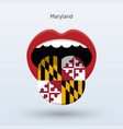 electoral vote of maryland abstract mouth vector image vector image