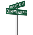 Entrepreneur employee street choice signs vector | Price: 1 Credit (USD $1)