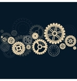 Gears background with shadow vector image vector image