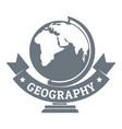geography logo simple gray style vector image vector image