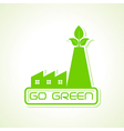 green industry design icon design vector image vector image