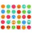 hand drawn color emoji colorful doodle faces vector image vector image